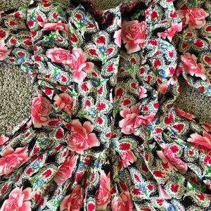 Mouse Feathers Dresses - VINTAGE Mouse Feathers girls floral dress 6x
